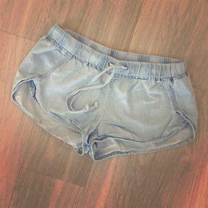 Light wash fabletics shorts size XS